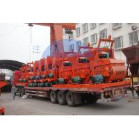 China High Efficiency 240v Cement Mixer , Js500 Double Shaft Drum Mixer Machine on sale