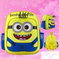 Despicable Me Minion Children School Backpack / Kids Back Packs Manufactures