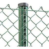 Outdoor European Green PVC Coated Chain Link Fabric Fencing And Post System Kits Manufactures