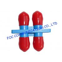 China ST Duplex optical cable adapter / Red Cap multimode fiber optic adapter on sale