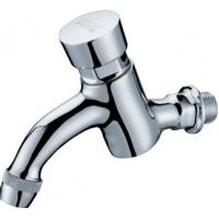 China Modern Water Saving Self-Closing Faucets / Wall Mounted Brass Mixer Taps HN-7H07 on sale