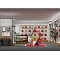 Customized Shopping Mall Retail Shop Display Shelving For Handbags / Suitcase