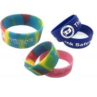 Widen custom Silicone bracelet for boys girls logo Wristband Recessed Rubber strap words color size Manufactures