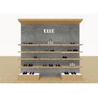 Mix Version Men's Shoe Shop Display Stands Wooden Shelves With Custom LOGO Manufactures