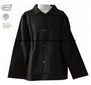 Cotton Black  Frc Fire Retardant Shirts / Flame Resistant Uniforms 260gsm Manufactures