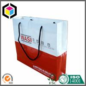 CMYK Full Color Printing Paper Gift Bag; Cotton Handle Paper Bag; Color Bag Manufactures