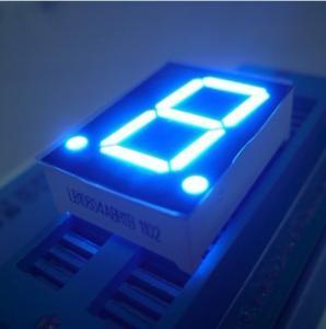 High Brightness Blue 7 Segment Led Display Single Digit 0.8 Inch OEM / ODM Manufactures