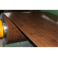 China Wooden Printing Type Pre Painted Galvanized Steel Sheet 23-1250mm Width on sale