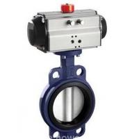 ASTM A105 Wafer Type Connection Butterfly Valve with Electric Actuator Manufactures