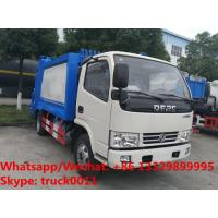 China 2019S best seller good price dongfeng 5m3 4tons compression garbage truck for sale, garbage compactor truck for sale on sale