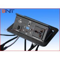 Multimedia Conference Desktop Hidden Pop Up Power Outlets With HDMI / VGA / USB Manufactures
