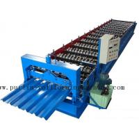 PLC Steel Metal Roof Panel Roll Forming Machine , Roofing Sheet Roll Former 5 Ton Manufactures