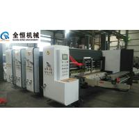 China Flexo Printer Slotter Machine Equipment Thickness 2-10mm Four Colors Printing on sale