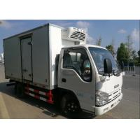 ISUZU 2 Tons Ice Box Truck , Refrigerated Cold Room Truck For Frozen Fish Transportation Manufactures