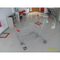 Buy cheap Large Wire Supermarket Shopping Cart 240L With Colored Powder Coating from wholesalers