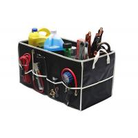 Fully Collapsible Trunk Organizer Black Color , Trunk Storage Organizer Manufactures