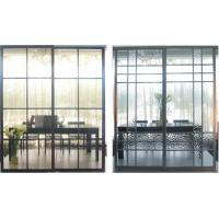 Partition Aluminum Sliding Doors For Living Room, Durable Laminated Glass Room Divider Manufactures