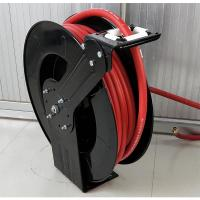 Double Hose Retractable Water Hose Reel Spring Driven Type For Liquid Supply Manufactures