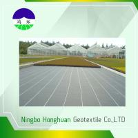 Anti - Weed Split Film PP Woven Geotextile Fabric For Stops Soil Erosion , Black Color Manufactures