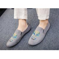 Black Gray Blue Loafer Slip On Shoes Driving Moccasins Shoes Breathable Manufactures