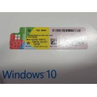 China Original Win 10 Pro License Key , COA License Sticker With Microsoft Safety Code on sale