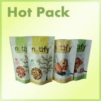Stand Up Snack Packaging Pouch Bags With Zipper Foil Lined , Wax Paper Sandwich Bags Manufactures