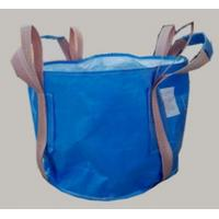 China Two loop blue Circular FIBC bag with 4 lifting UV treated for transportation wholesale