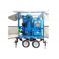 China Double Axle Mobile Typed Double Stage Vacuum Transformer Oil Purifier ZYD-M-100 (6000LPH) on sale