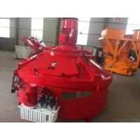 Orange Color Planetary Concrete Mixer PMC1000 1000L Input Capacity Heavy Duty Manufactures