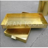 Non sparking tank tray , brass or copper material 120*120*50mm, 100*50*150mm Manufactures