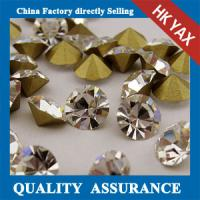 point back glass rhinestones wholesale,glass rhinestones point back for garment,pointback glass stone Manufactures