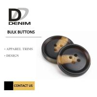 Four Holes Sleeve Buttons Brown & Black Color Plastic / Polyester Manufactures