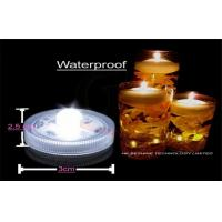 Waterproof  Led Submersible Lights , Mini Led Tea Light  3.0cm x 2.5 cm Manufactures