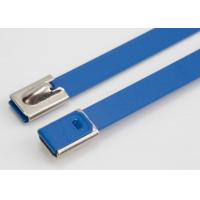 Blue Color Epoxy Coated Stainless Steel Cable Ties Self Locking Zip Ties Manufactures