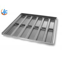 OEM Aluminium Baking Tray / Round End Hoagie Bun Pan With Inverted Construction Manufactures