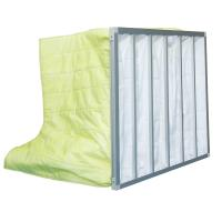 Fire Retardant Pocket Air Filter AHU / Yellow F8 Non Woven Material With 6 Bags Manufactures