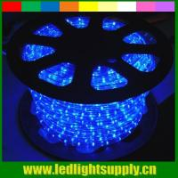 China blue waterproof led strip lights 2 wire led christmas rope light on sale