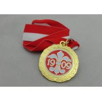88mm Enamel Medal Antique Silver Plating , Iron Medal For Sport Game Manufactures