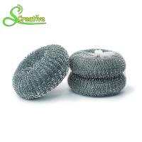 High Zinc Kitchen Galvanized Scourer Wire Mesh Ball Strong Cleaning For Pan / Grill Manufactures