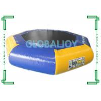 Inflatable PVC tarpaulin Water Trampoline / Floating Air Jumping Trampoline Manufactures