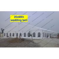 China Huge Wedding Event Tents 25 x 60m PVC Cover Fabric Church Windows Curtains Decoration on sale