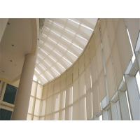 Internal Tension Sun Shades Architectural Building Shade Motor Remote Control Manufactures