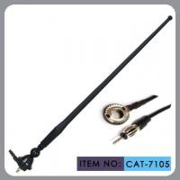 Black Am / Fm Rubber Car Antenna 50 Inch Cable Length With M5 Screw Cap Installation Manufactures