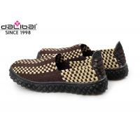China Anti-Slip Rubber Sole Elastic Weave Shoes Summer Footwear With Close Toe on sale