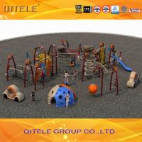 Safety Performance Kids Outdoor Gym Equipment Rock Climber And Tunnel Slide Manufactures