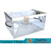 New Style Luxury Poker Discard Holder With Two Metal Handle Easy To Carry Manufactures