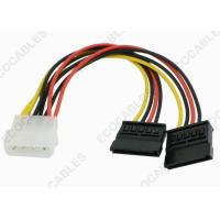 Electrical Wire Harness IDE 4 Pin Male to 15 Pin Dual SATA For Hard Disk Manufactures