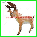 China customize size animal fiberglass statue large milu deer model as decoration statue in garden /square / shop/ mall wholesale
