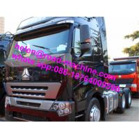 40 Ton Prime Mover Truck , Howo A7 Cabin Sinotruk 420hp 6x4 Tractor Head Truck Manufactures