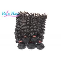 7A Grade Remy Brazilian Deep Wave Curly Virgin Hair With No Shedding Manufactures